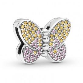Pandora Reflexions 797864CZM Bedel/Clip zilver Pave Butterfly