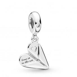 Pandora 797876CZ Hangbedel zilver Heart Paper Plane