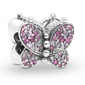 Pandora 797882NCCMX Bedel zilver Dazzling Pink Butterfly