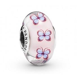 Pandora 797893 Bedel zilver/muranoglas Butterfly Glass