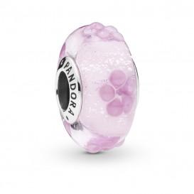 Pandora 797901 Bedel zilver Pink Flower Glass
