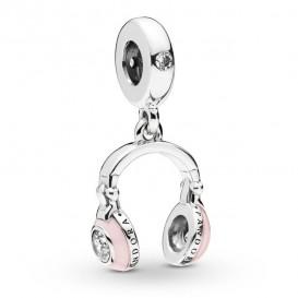 Pandora 797902EN160 Hangbedel zilver Pink Headphone
