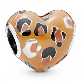 Pandora 798065ENMX Bedel Spotted Heart met emaille