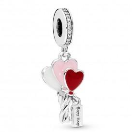 Pandora 798076CZ Hangbedel zilver Heart Balloons