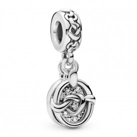 Pandora 798095CZ Hangbedel zilver Knotted Hearts