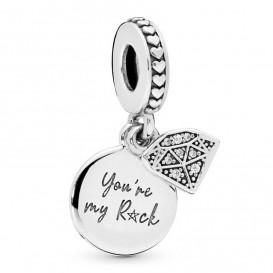 Pandora 798102CZ Hangbedel zilver My Rock