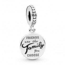 Pandora 798124EN16 Hangbedel zilver Friends are Family