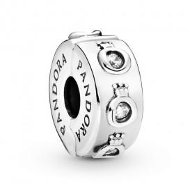 Pandora 798326CZ Bedel clip/stopper Sparkling Crown O zilver