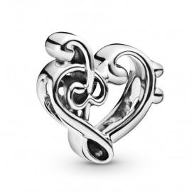 Pandora 798346 Bedel zilver Heart Treble Clef