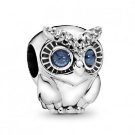 Pandora 798397NBCB Bedel zilver Sparkling Owl