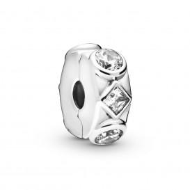 Pandora 798463C01 Bedel clip/stopper Geometric Shapes zilver