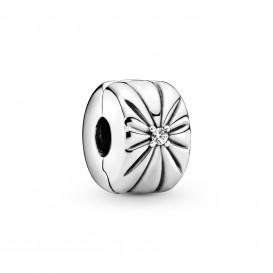Pandora 798614C01 Bedel clip/stopper Sparkling Sunburst zilver