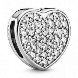 Pandora Reflexions 798684C01 Bedel/Clip zilver Pave Heart