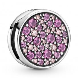 Pandora Reflexions 799362C01 Bedel/Clip Pink Pave zilver