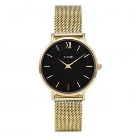 CLUSE CL30012 Minuit Mesh Gold Black horloge