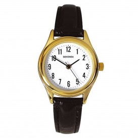 Sekonda Horloge 4493 Dames Goud Leer SEK.4493 Dameshorloge 1