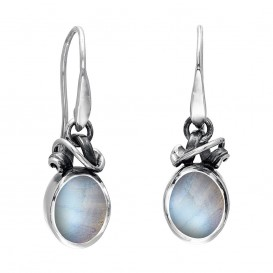 Rabinovich 40804021 zilveren oorhangers met maansteen