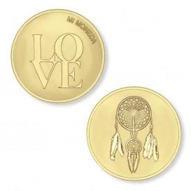Mi Moneda MON-LOV-02 Love and Dreamcatcher gold