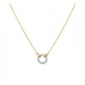 TFT Collier Bicolor Goud Diamant 0.08ct H SI