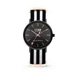 CO88 Collection - 8CW-10036 - Horloge - nato nylon - zwart/wit - 36 mm