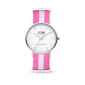 CO88 Collection 8CW-10025 - Horloge - nato nylon - roze/wit - 36 mm