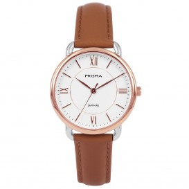 Prisma horloge 1973 dames edelstaal saffierglas 5 ATM P.1973 Dameshorloge 1