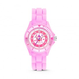 Colori Kidz 5-CLK036 - Kinderhorloge - siliconen band - roze - 30 mm