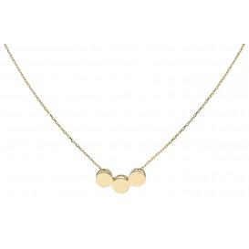 Glow gouden Collier met Hanger 3 Rondjes 42+2cm 202.2048.42