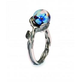 Trollbeads TAGRI-00256 Ring Blauwe Bloem zilver/glas Maat 52