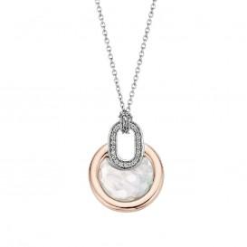 Ti Sento 3887MW zilveren collier met luxe zirkonia hanger
