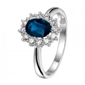 TFT Ring Saffier En Diamant 0.36ct H SI Witgoud