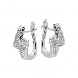 Elegance Zilveren Oorbellen met zirconia 107.6201.00