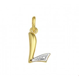 TFT Hanger Geelgoud Letter L Diamant 0.005 Ct.
