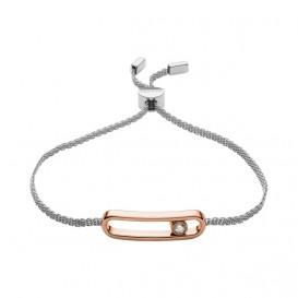 Skagen SKJ1171998 Armband Elin staal zilver-en rosekleurig