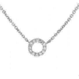 TFT Collier Witgoud Diamant 0.05ct H P1 0,8 mm 41 - 43 - 45 cm