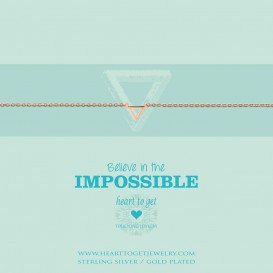 Heart to get B252STR15R believe in the impossible bracelet small triangle rosegold plated