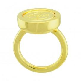 Mi Moneda RIN-AMO-02 Ring Avo Silver goudkleurig