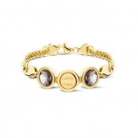 Mi Moneda BRA-CAMR-02-19 Silver gold plated cambio robusto armband