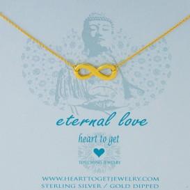 Heart to get N91BIN13G Eternal love ketting goud