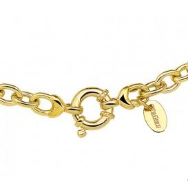Zilgold Collier goud met zilveren kern Anker 6,0 mm 45 cm