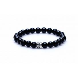 Karma 86249 Armband Black Onyx Cylinder Bead 20 cm