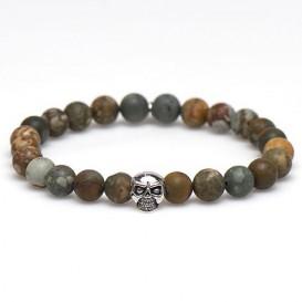 Karma 86881 Armband Sundown Silver Skull Bead 20 cm