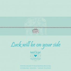Heart to Get B254SEL15S Ketting zilver Luck will be on your side