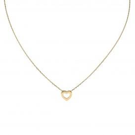 Glow Gouden Collier Met Hanger - Open Hart 42+2cm 202.2044.42