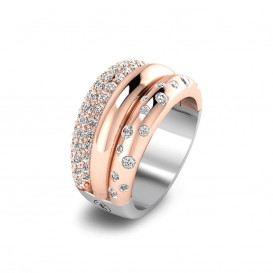 TI SENTO - Milano 12113ZR ring met zirkonia Maat 56 is 17.75 mm