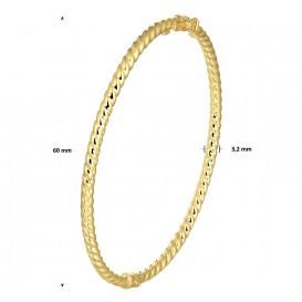 Zilgold Slavenband Goud met Zilveren Kern Scharnier Buis 3,2 X 60 mm