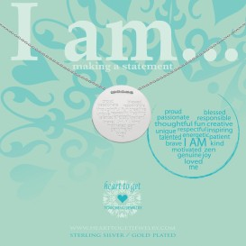 Heart to get IAM413N-IAMHEA-S i am…proud ketting zilver