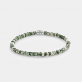 Rebel and Rose RR-40071-S Rekarmband Beads Slices - The Green Deal - 4 mm groen S 16,5 cm