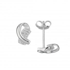 Zilveren Oorbellen met zirconia 106.0857.00