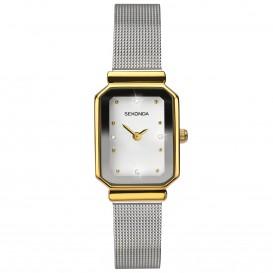 Sekonda horloge SEK.2464 dames zilver met goud milanees SEK.2464 Dameshorloge 1